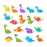 Cute Cartoon Dinosaurs Set Royalty Free Stock Images