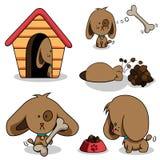 Cute cartoon dog. Vector set of cute cartoon dog Stock Photo