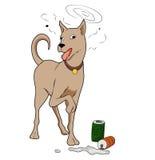 Cute cartoon  dog. Illustration of Cute cartoon  dog ,Isolated on white Royalty Free Stock Images