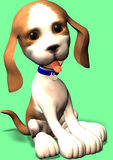 Cute cartoon dog. A cute sweet cartoon dog posing for your Stock Photography