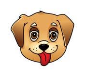 Cute cartoon dog face Royalty Free Stock Photo