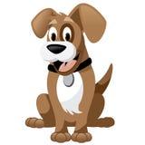 Cute cartoon dog isolated on white Royalty Free Stock Photos