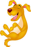 Cute cartoon dog laughing Royalty Free Stock Image