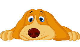 Cute cartoon dog lying down Royalty Free Stock Images