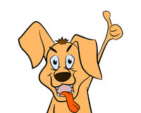 Cute cartoon dog with. Stock Photography