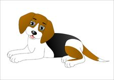 Cute cartoon dog Royalty Free Stock Photos
