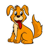 Cute cartoon dog. Stock Photography
