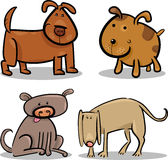 Cute cartoon dogs or puppies set Royalty Free Stock Images
