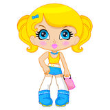 Cute cartoon doll royalty free stock image