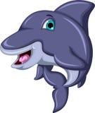 Cute Cartoon Dolphin isolated Stock Photo