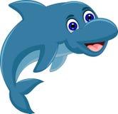 Cute Cartoon dolphin jumping. Illustration of cute Cartoon dolphin jumping Stock Images