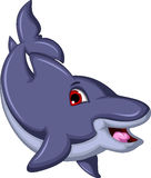 Cute Cartoon Dolphin swiming Royalty Free Stock Images