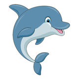 Cute cartoon dolphin. Vector illustration Stock Images