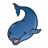 Cute cartoon dolphin  on white background Stock Photos