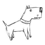 Cute cartoon doodle dog Royalty Free Stock Image
