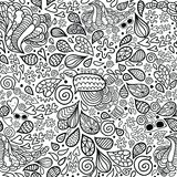 Cute cartoon doodle hipster seamless pattern. Stock Images