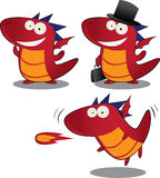 Cute cartoon dragon Royalty Free Stock Photography