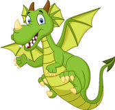 Cute cartoon dragon Stock Photography