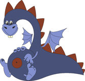 cute cartoon dragon, vector illustration  Royalty Free Stock Photos