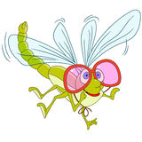 Cute cartoon dragonfly Royalty Free Stock Images