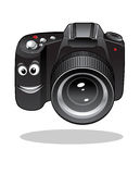 Cute cartoon DSLR or digital camera Stock Photos