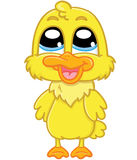 Cute cartoon duckling Royalty Free Stock Photos