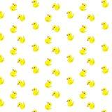 Cute Cartoon Ducks Pattern. Stock Photo