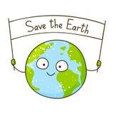 Cute cartoon Earth Stock Photo
