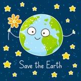 Cute cartoon Earth Stock Images