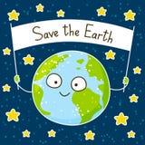 Cute cartoon Earth Stock Image