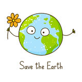 Cute cartoon Earth Stock Photos