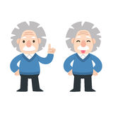Cute cartoon Einstein Stock Photography