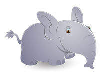 Cute Cartoon Elephant Royalty Free Stock Photo