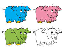 Cute cartoon elephant Royalty Free Stock Photos