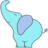 Cute cartoon elephant,  icon or logo for baby shower EPS10 Royalty Free Stock Photos