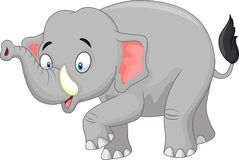 Cute cartoon elephant Stock Photography