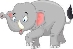 Cute cartoon elephant vector illustration