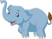 Cute cartoon elephant isolated on white background royalty free illustration