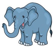 Cute cartoon elephant Stock Photos