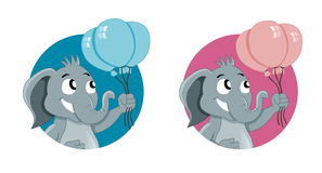 Cute cartoon elephants Royalty Free Stock Photography