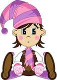 Cute Cartoon Elf Girl Royalty Free Stock Photography