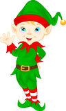 Cute cartoon elf waving Stock Photography