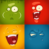 Cute cartoon emotions Royalty Free Stock Photography