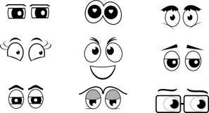 Cute cartoon eyes in Vector. Set with nine cartoon eyes in Vector royalty free illustration