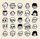 Cute cartoon face Stock Image