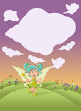 Cute cartoon fairy girl Stock Photo