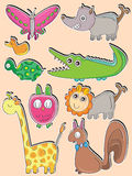Cute Cartoon Families_eps Royalty Free Stock Photos