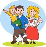 Cute Cartoon Family Royalty Free Stock Photography