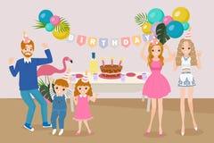 Cute cartoon family Royalty Free Stock Photos
