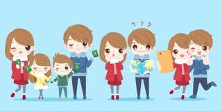Cute cartoon family Royalty Free Stock Image